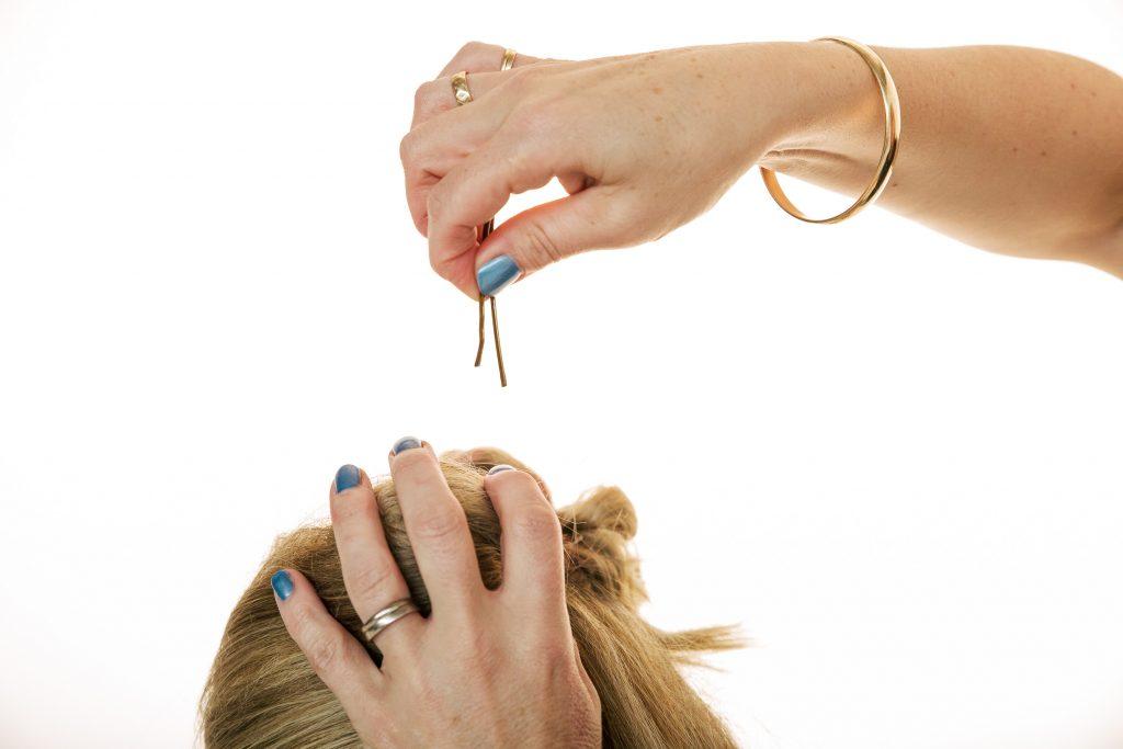 Lorna Evans Education Pin Hair